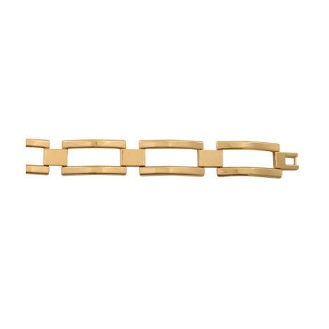 pulseira masculina elo quadrado vazado lajotinha folheado banhado ouro 18k dourado semijoia antialergica sem niquel nickel free bruna semijoias brilho folheados BP0231