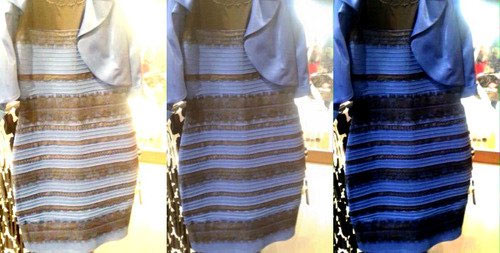 que cor e o vestido what colors are this dress