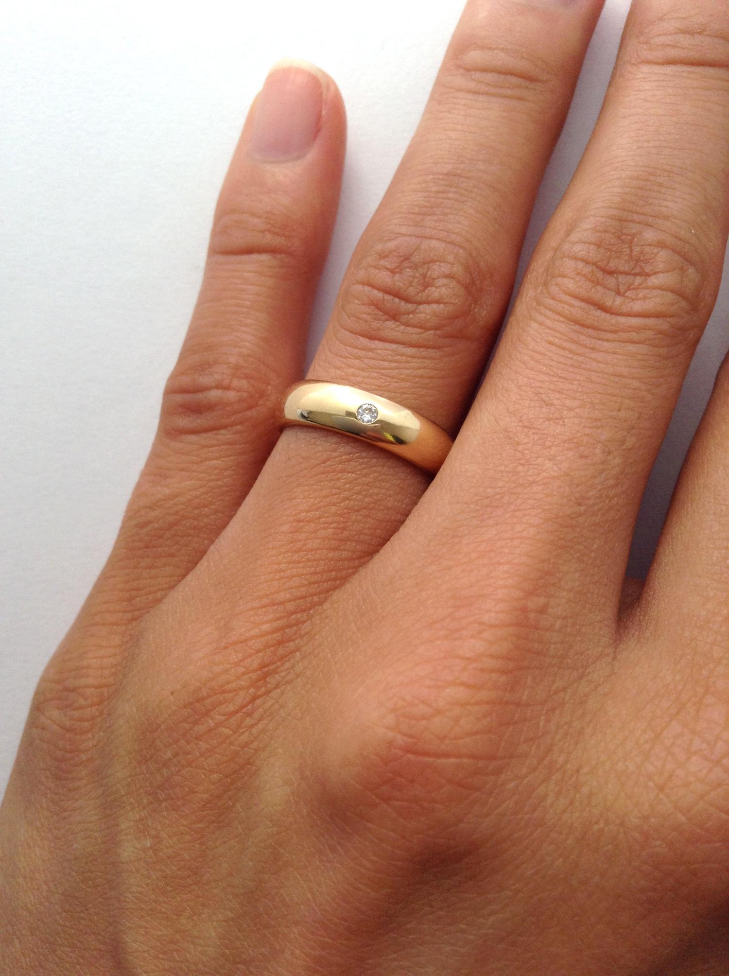Armario Retro ~ Brilho Folheados alianca espessura larga zirconia cristal folheada banhada ouro 18k dourado
