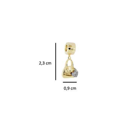berloque bolsa coracao rodio cravejado zirconia folheado banhado ouro dourado 18k serve pulseira pandora semijoia antialergica nickel freesabrina joias brilho folheados foto medidas 1800214