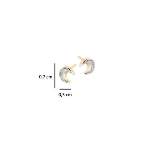 brinco pequeno lua cravejado zirconia folheado banhado ouro 18k aplique rodio efeito ouro branco semijoia antialergica nickel free sabrina joias brilho folheados 1664500