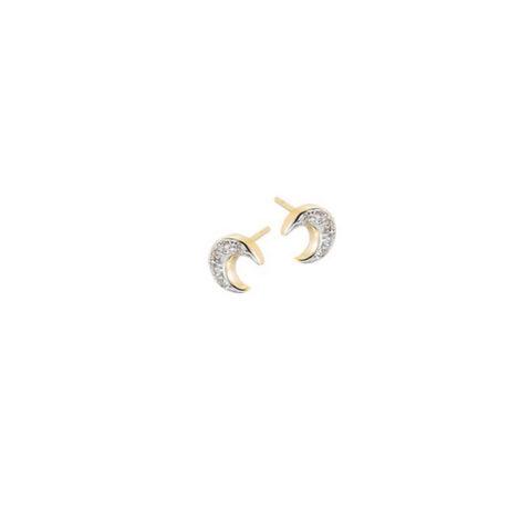 brinco pequeno lua cravejado zirconia folheado banhado ouro 18k aplique rodio efeito ouro branco semijoia antialergica sem niquel sabrina joias brilho folheados 1664500
