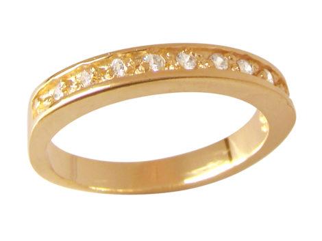 anel aparador fino com meia fileira zirconias swarovski banhado ouro 18k semijoia antialergica nickel free bruna semijoias brilho folheados AB1202