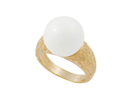 anel estampado perola branca banhado ouro 18k dourado hipoalergico sem niquel nickel free brilho folheados bruna semijoias AB1638