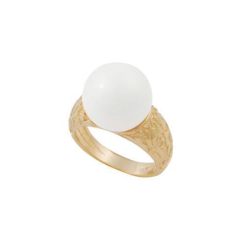 anel estampado perola branca folheado ouro 18k dourado antialergico sem niquel nickel free brilho folheados bruna semijoias AB1638