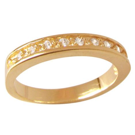 anel meia alianca aparador fino zirconias swarovski folheado ouro 18k semijoia sem niquel bruna semijoias brilho folheados AB1202