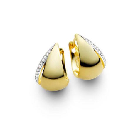 brinco argola pequena zirconias folheado banhado ouro 18k dourado semijoia antialergica nickel free sabrina joias brilho folheados 1689163