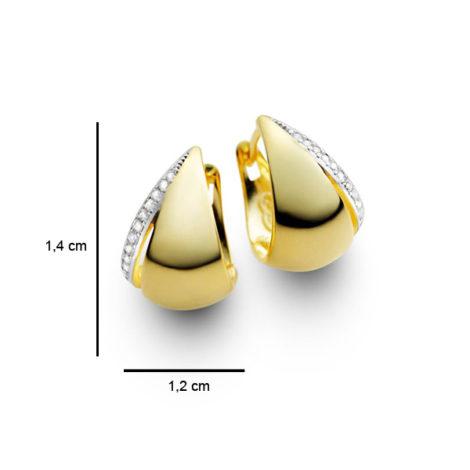 brinco argola pequena zirconias folheado banhado ouro 18k dourado semijoia hipoalergica sem niquel sabrina joias brilho folheados 1689163 foto medidas