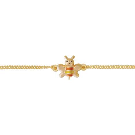 pulseira infantil abelha resina banhada ouro 18k dourado hipoalergica nickel free brilho folheados bruna semijoias BP 0450