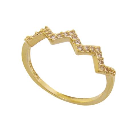 anel fino zig zag cravejado zirconia folheado ouro 18k dourado semijoia antialerigica sem niquel brilho folheados bruna semijoias AB1645
