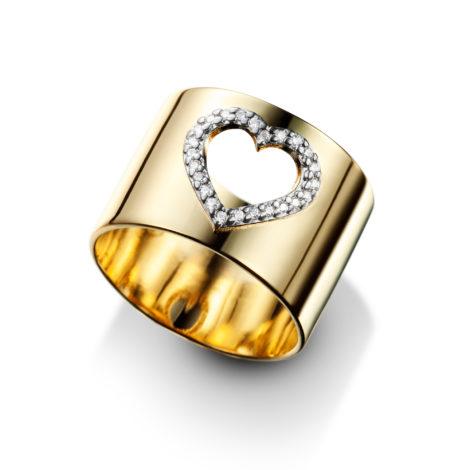 anel largo coracao zirconia banhado ouro dourado antialergico sem niquel contem aplique rodio sabrina joias brilho folheados 1910145