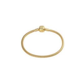 bracelete brilho folheados fecho tradicional para berloques semijoia antialergica banhada ouro dourado sem niquel sabrina joias
