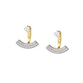 brinco ear cuff fashion chanel cravjeado zirconia aplique rodio banhado ouro 18k amarelo sabrina joias brilho folheados 1689394