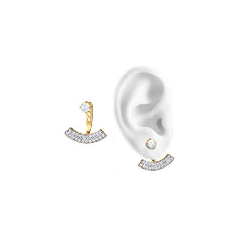 brinco ear cuff fashion chanel cravjeado zirconia aplique rodio folheado ouro 18k amarelo sabrina joias brilho folheados semijoia sem niquel 1689394