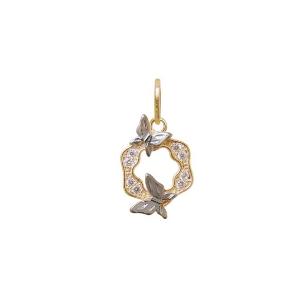 9dc1aa83a4d0b Brilho Folheados - Pingente Mandala Pequeno 2 borboletas