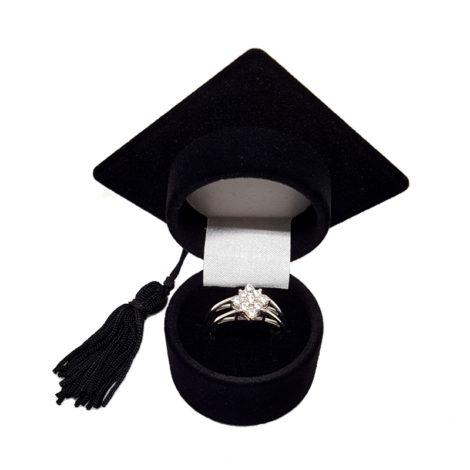R1910672 anel 2 fases parte com flor de zirconias brancas brilho folheados sabrina joias