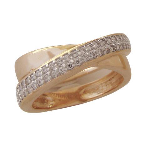 anel cruzado 2 aros cravejad0 zirconia banhado folheado ouro bilho folheados bruna semijoias AB1547