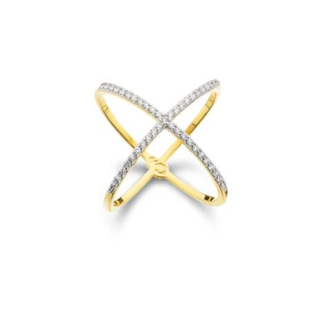 anel duplo cruzado cravejado zirconia double x design europeu banhado folheado ouro dourado semijoia antialergica sem niquel sabrina joias brilho folheados 1910487