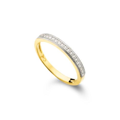 anel fino meia fileira zirconias banhado folheado ouro brilho folheados sabrina joias 1910481