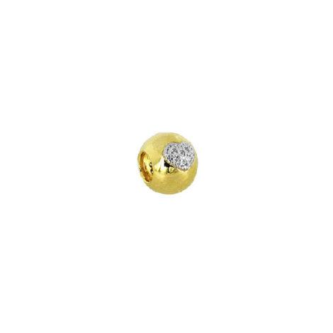 berloque bola coracao cravejado zirconia banhado ouro dourado semijoia antialerigica sem niquel sabrina joias brilho folheados
