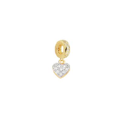 berloque coracao pendurado cravejado zirconia banhado folheado ouro amarelo semijoia antialergica brilho folheados sabrina joias 1800171