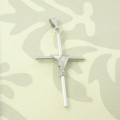 pingente cruz folheado banhado rodio semijoia bruna MB0093