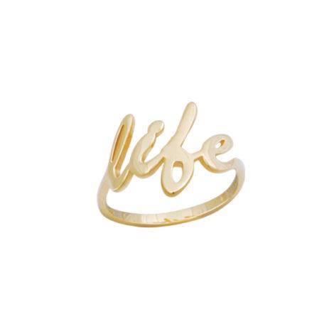 anel life folheado ouro replica joia marca bruna semijoias AB1658