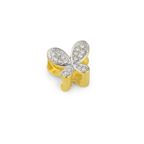 berloque borboleta cravejada zirconias aplique rodio banhado folheado ouro sabrina joias brilho folheados 1800203