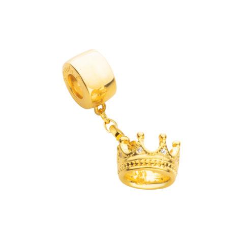 berloque coroa zirconia para pulseira sabrina vivara pandora semijoia antialergica brilho folheados 1800206