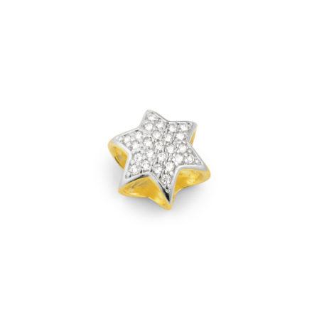 berloque estrela cravejado zirconia aplique ouro branco sabrina semijoas brilho folheados 1800202