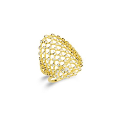anel arabesco rendado zirconias 1910499