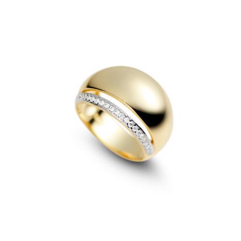 anel bola vazada fileira zirconias 1910342