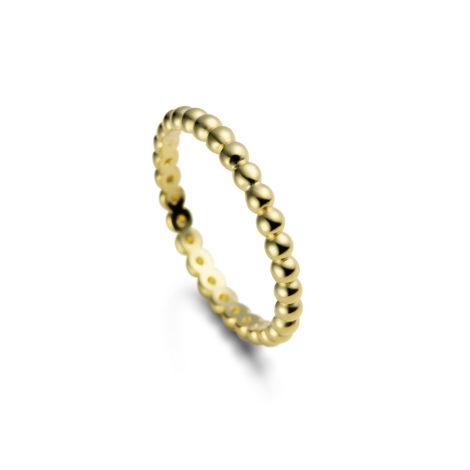anel delicado bolinhas life gold 1910400
