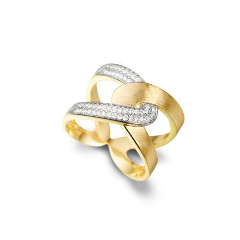 anel entrelace vazado zirconias 1910340