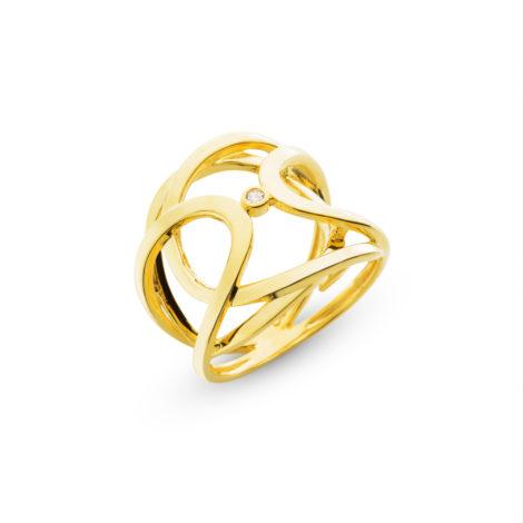 anel entrelance gold ponto zirconia semijoia 1910433