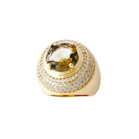 anel redondo cristal cravejado semijoia AB1583