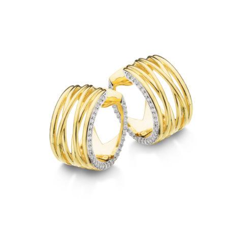 argola fios ouro larga 1689401