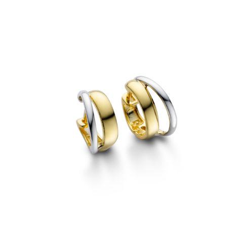 argola pequena duplo 2 tons ouro 1689148