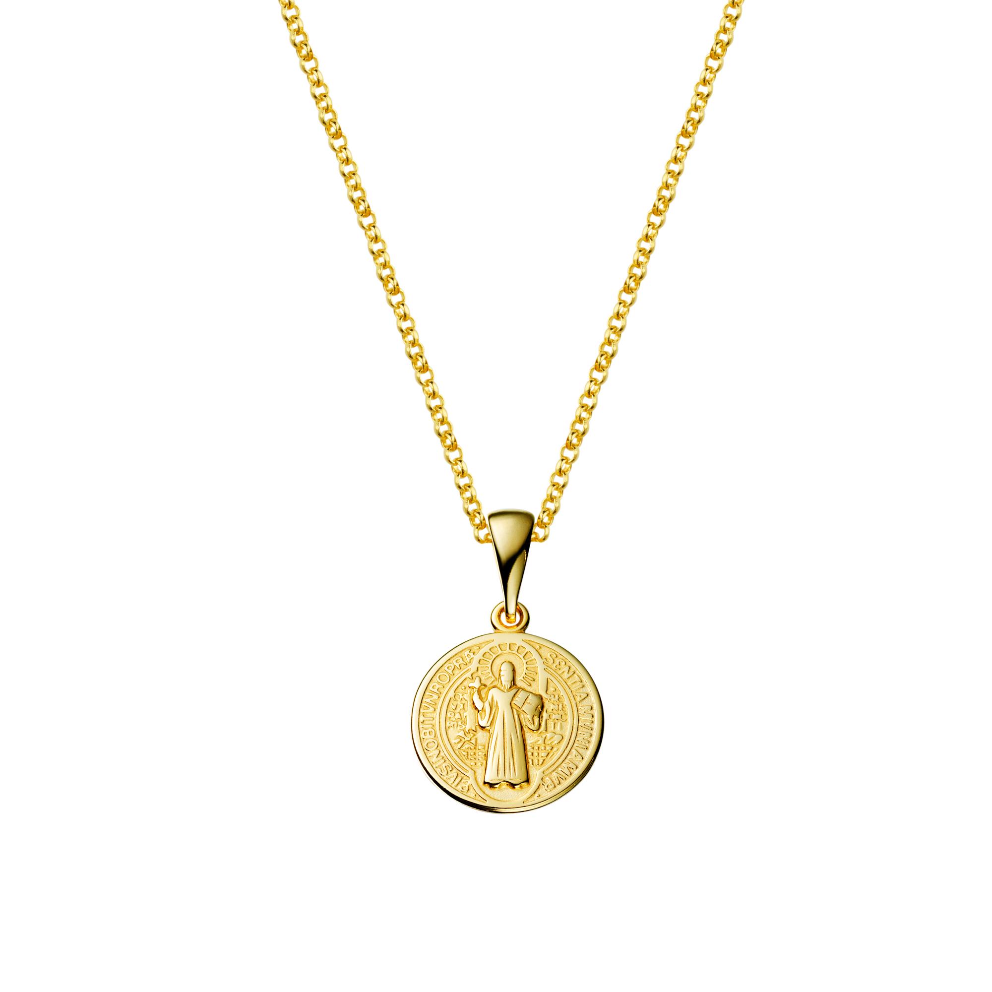 Brilho Folheados - Colar com Medalha São Bento Pequena 3debf8b5f2