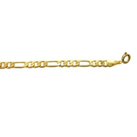 corrente elo 3x1 semijoia banhada folheada ouro 60 cm comprimento 141E60