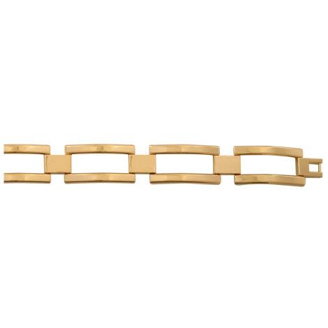 pulseira masculina elos vazados 20cm BP0276