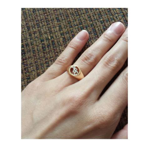 anel abc brilho folheados