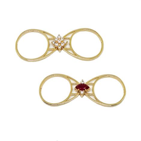 1910672 2 faces pedra navete rubi e flor de pedra zirconias branca brilho folheados sabrina joias