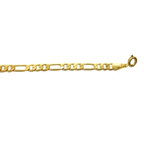 pulseira elo 3x1 semijoia banhada folheada ouro 18 cm comprimento 141E18