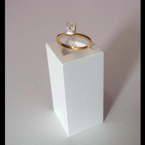 anel solitario pedra retangular 1944100