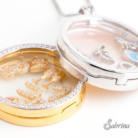 capsula sabrina joias monte a sua brilho folheados