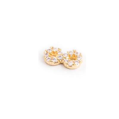 pingente infinito cravejado zirconias banhado ouro amarelo semijoia sabrina joias 1800271