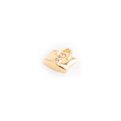 pingente secrets bolsa feminina banhado folheado ouro sabrina joias brilho folheados 1800278