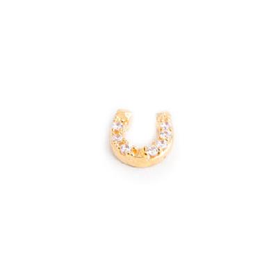 pingente secrets ferradura banhado ouro sabrina joias brilho folheados 1800269