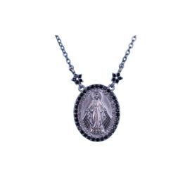 Colar Medalha Milagrosa em ródio negro · Religioso. Gargantilha   Colar de Nossa  Senhora das Graças ... bda9a97141